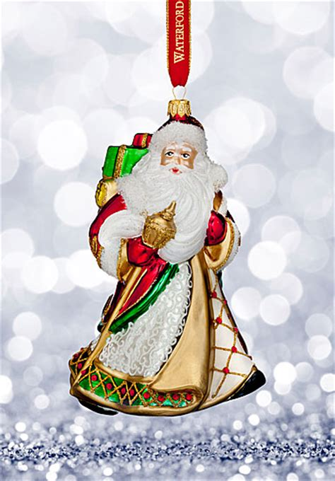 waterford heirloom small ornaments waterford 2017 heirloom nostalgic collection miraculous santa ornament