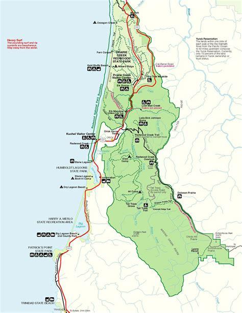 map of oregon redwoods redwood national park home