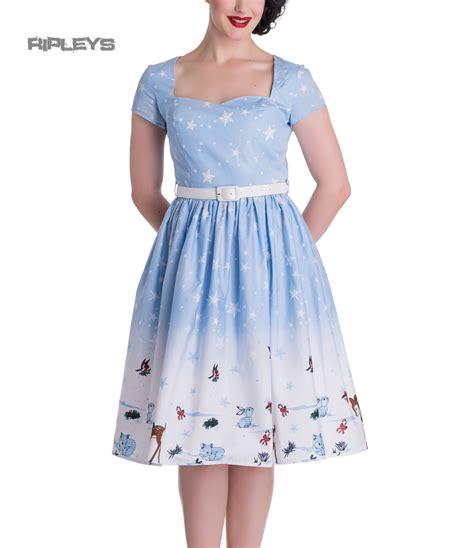 Dress Anak Premium Rabbit hell bunny 50s dress noelle snowflake blue all sizes ebay