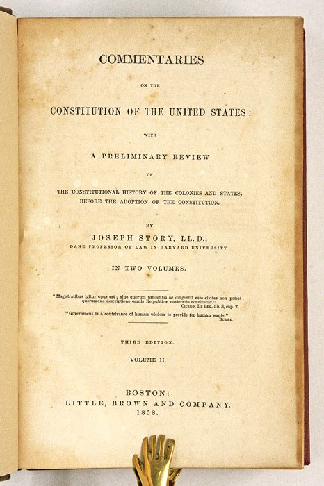 commentaries on the constitution of the united states with a preliminary review of the constitutional history of the colonies and states before the adoption of the constitution classic reprint books commentaries on the constitution of the united states