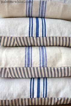 farmhouse stripe chair cushions feed sack fabric by the yard feedsack fabric make from
