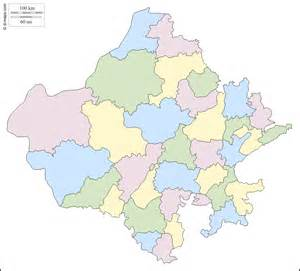 Rajasthan Blank Map by Blank Map Rajasthan