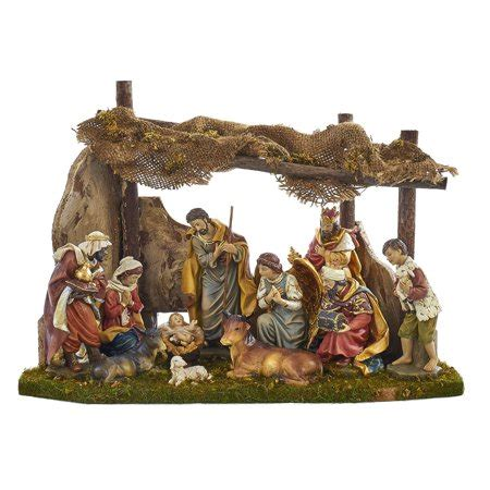 christmas stable walmart kurt adler 11 figurine nativity set with wooden stable walmart