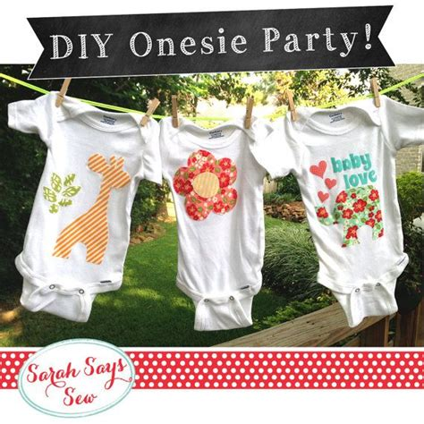 Diy Onesie Baby Shower by Baby One Decorating Diy Baby Shower Quot The