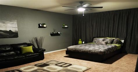 cool bachelor bedroom ideas floor to ceiling blackout curtains double as a stylish