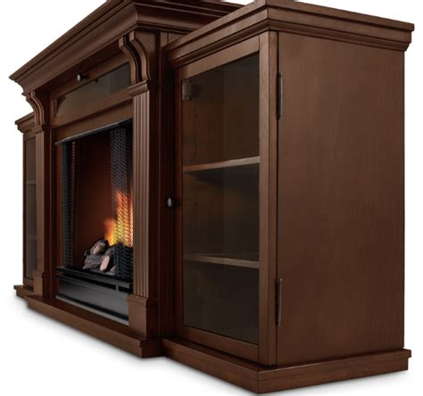 67 quot espresso entertainment center gel fireplace