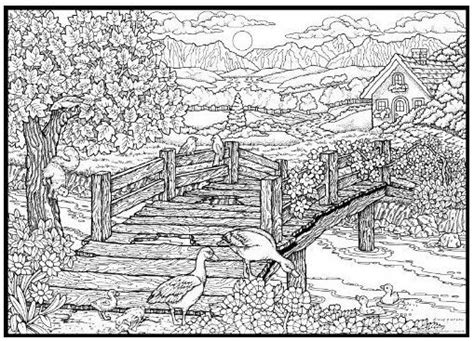 coloring pages for adults scenery free coloring pages of nature scenery