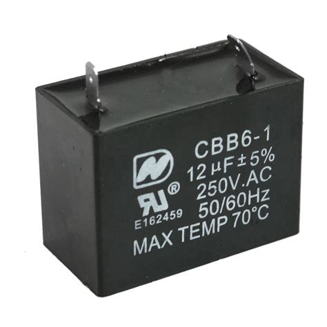 12uf run capacitor cbb6 1 12uf 250v ac 2 soldering terminals fan motor run capacitor ebay