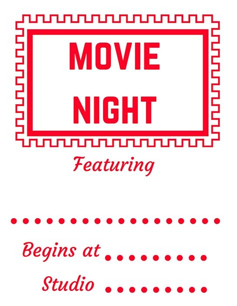 printable movie night tickets how to have a family movie night outside all things big