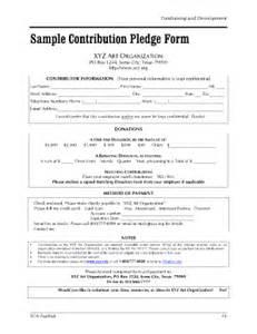 a thon pledge form template donation pledge form template sle pledge form 8