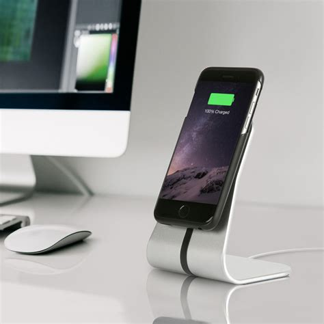 iphone 4 desk stand wireless office desk stand charging kit silver iphone
