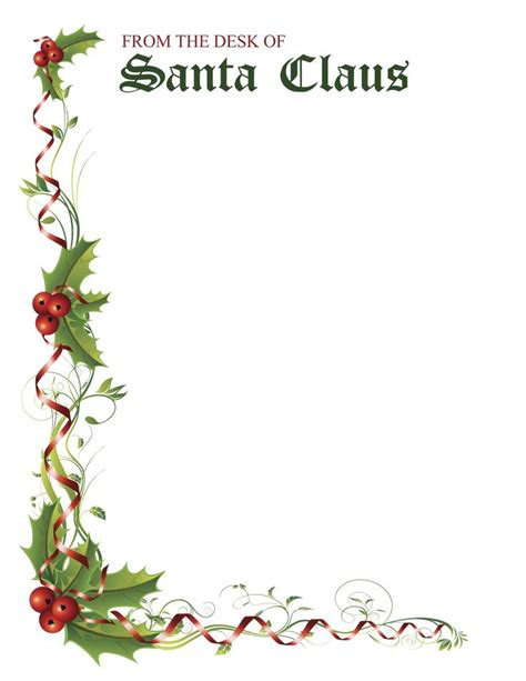 printable santa claus decorations 51 best letters from santa sles images on pinterest