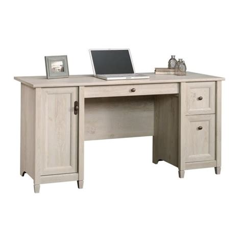 sauder edge water executive desk in chalked chestnut compare miscellaneous sauder edge water file cabinet in