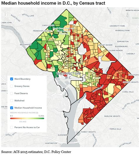washington dc poverty map food access in d c is deeply connected to poverty and