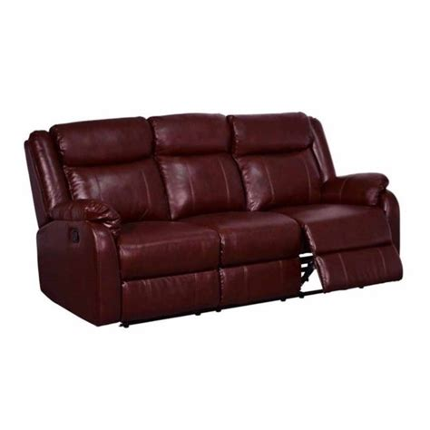 Global Furniture Usa Leather Reclining Burgundy Sofa Ebay
