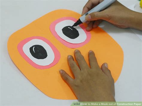 how to make a mask out of construction paper with pictures
