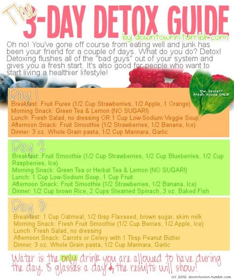 11 Day Detox Diet a 3 day detox diet to reset your detox