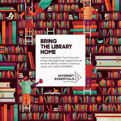 comcast print advert  ssk library ads   world