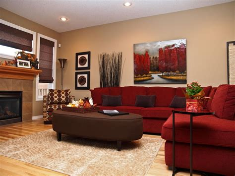 brown and red living room ideas living room decorating ideas with red couch makes room