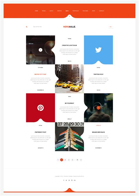 versaille personal blog html5 template by themeton