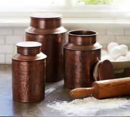 copper canister contemporary kitchen canisters and jars sacramento by pottery barn