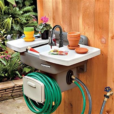 backyard gear outdoor sink with hose and hose reel outdoor sink hooks up with your hose genius idea the whoot