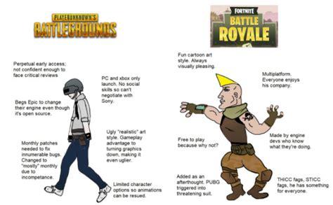 fortnite vs pubg meme pubg vs fortnite meme pubgeurope
