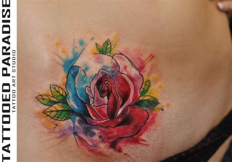 watercolor tattoo on back watercolor images designs
