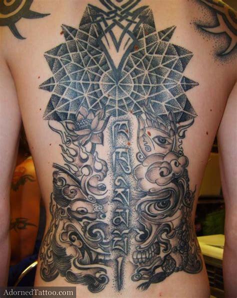 geometric tattoo full back 55 tibetan tattoos collection