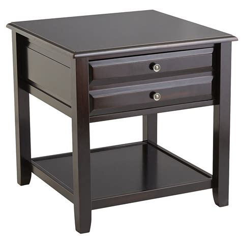 large end table anywhere large rubbed black end table with knobs pier 1