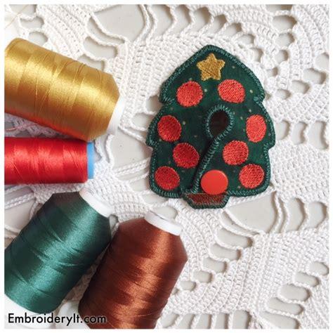 new christmas tree feeding tube pad embroidery it