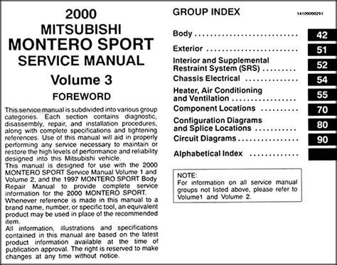 download car manuals 2001 mitsubishi montero sport engine control 2004 mitsubishi montero wiring diagram manual for sale 54 wiring diagram images wiring