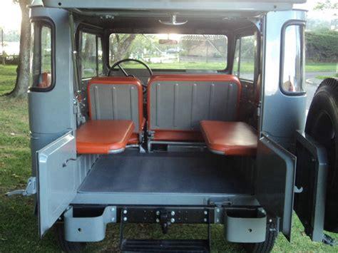 classic land cruiser interior toyota land cruiser fj40 1966 4 215 4 frame off restoration