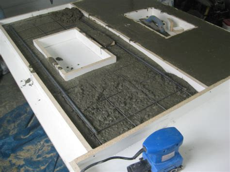 Pour Your Own Concrete Countertops by Rebar In Countertop