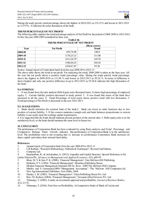 corporation bank coimbatore financial analysis of corporation bank with special