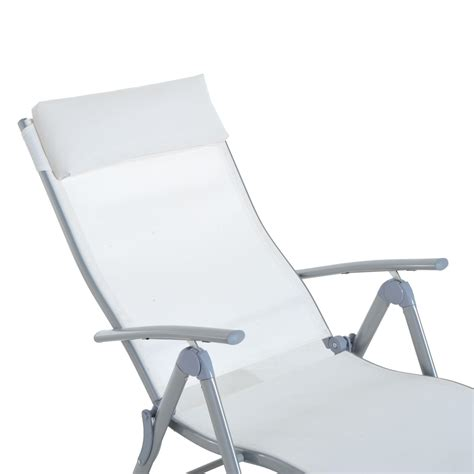 reclining chaise lounge chair aosom outsunny patio reclining chaise lounge chair with