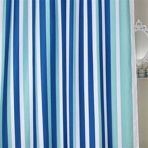 blue stripe shower curtain blue stripe shower curtain