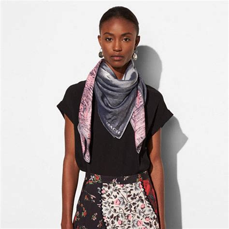 coach elvis oversized square scarf
