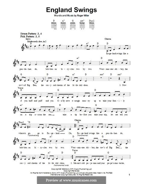 england swings england swings by r miller sheet music on musicaneo