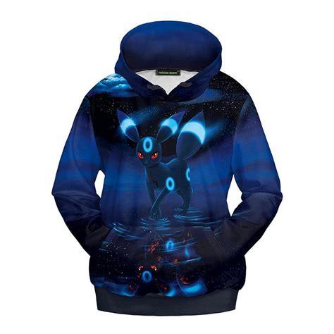 Sweater Hoodie Kanji Costume 3d go umbreon eevee hoodie costume jacket sweatshirts kigurumi ebay