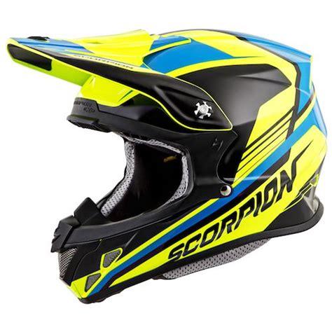 neon motocross gear scorpion vx r70 ascend helmet revzilla