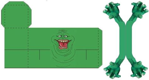 Ghostbusters Papercraft - slimer by logancat24 on deviantart
