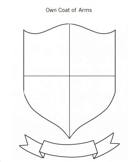 coat template coat of arms template symbols design
