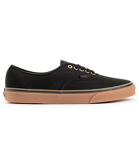 Sepatu Vans Authentic Black Gum Vans Authentic Black Gum Skate Shoes Zumiez