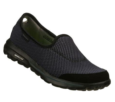 13755 black gray skechers shoes go walk memory foam fit