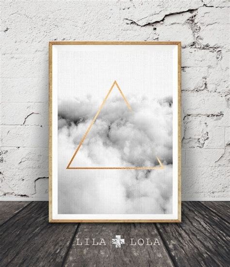 modern minimalist triangle wall cloud print
