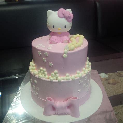 cara membuat kue ulang tahun bergambar hello kitty jual kue hellokitty dua susun harga murah jakarta oleh