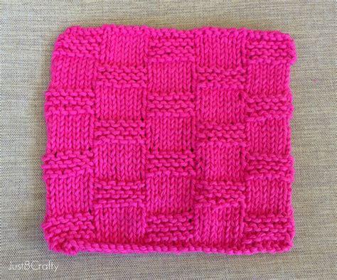 basket pattern knitting basket weave dishcloth pattern just be crafty