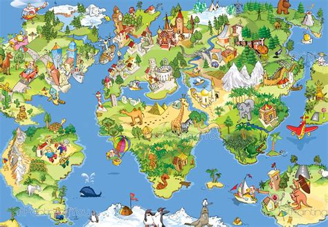 map world jungle mapa mundo infantil murais de parede infantil mci1046pt