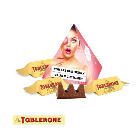 personalised toblerone mini pyramid chocolate gift boxes